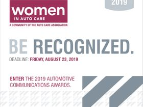 Deadline Approaches for Women in Auto Care Award