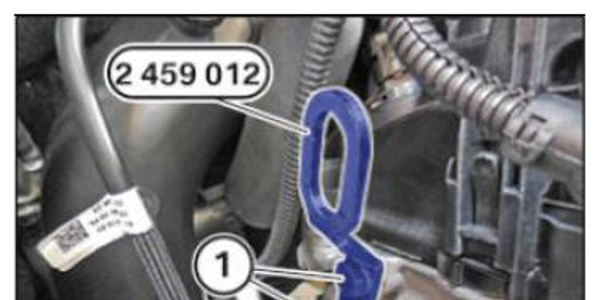 Lifting eyelet tool secures to the cylinder head. Priced at $21.