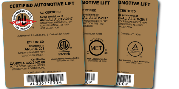 Earning one of these Automotive Lift Institute (ALI) gold certification labels is a little more...