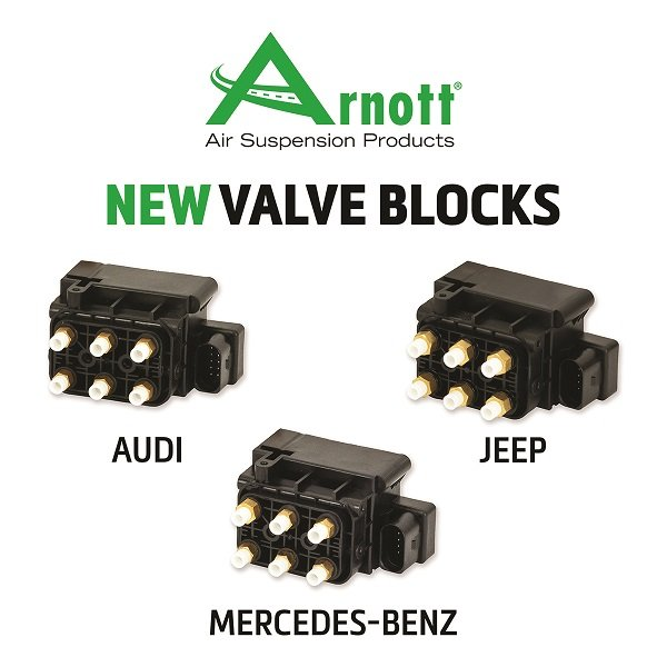 Arnott Releases New Air Suspension Solenoid Valve Blocks