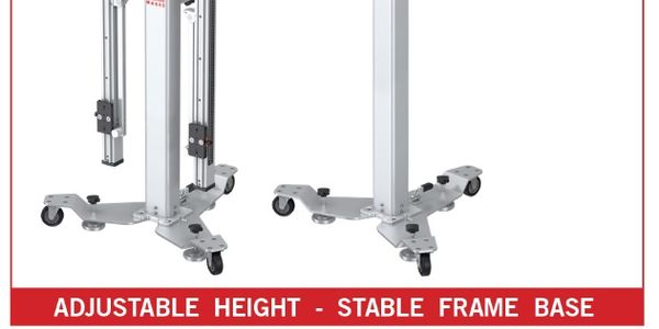 The adjustable height and stable frame base of the new Autel MaxiSys MA600 ADAS Calibration...