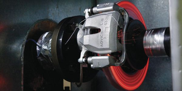 Brake rotor temperatures can rise to extreme levels during braking. The example shown here...