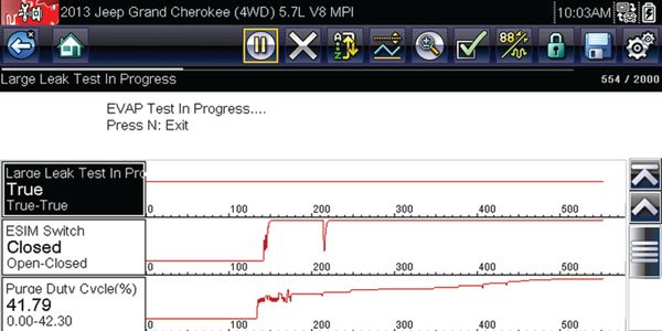This scan tool capture shows OEM data, beginning with a cold-start. The fuel system went into...