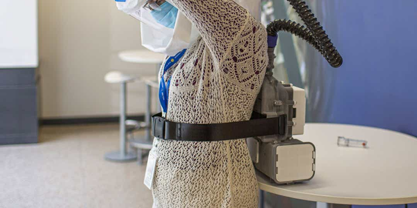 Ford´s Powered Air Purifier Respirator with Mann+ummel HEPA filter elements. Source: Ford Motor...