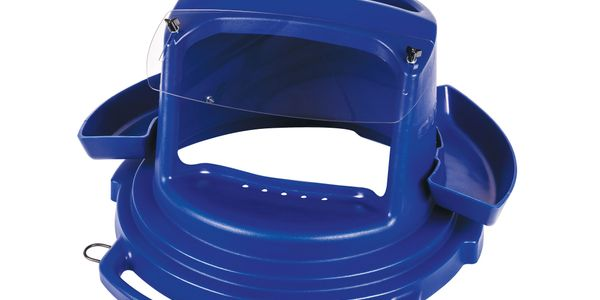 Guardair says the new Chip Collector Lid fits any 55-gallon drums and 44- and 55-gallon trash...