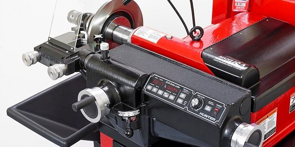 Hunter says technicians can use the new BL Series bench lathe to provide faster service by...