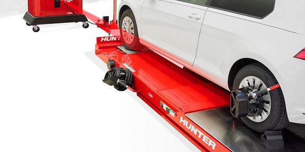 Hunter says the time to position an aftermarket ADAS fixture is reduced by 50% or more by...