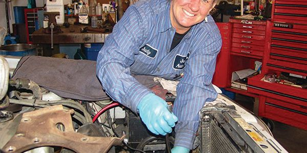 "Owner and Master Tech Judy Mayne offers vehicle service ""with a woman's touch,"" garnering close..."