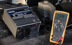 To avoid damage, AGM batteries must be charged at no higher than 14.5 volts.