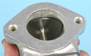 Similar to the intake valves in a cylinder head, improper/insufficient valve seating is critical.