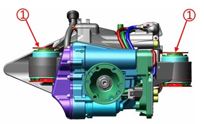 Note the locations of the differential mounts.