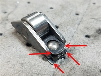 Inspect the non-AFM rocker clips for damage.