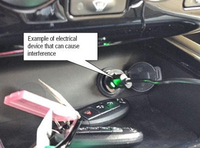 Example of an electrical device that can cause interference with the intelligent key.