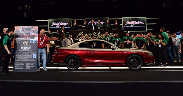 Quaker State's 1996 Mustang sold at auction in Scottsdale, Ariz.