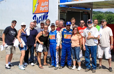 """Winers of the """"Get Dirty with Kenny"""" Federated Auto Parts contest enjoyed racing and baseball."""