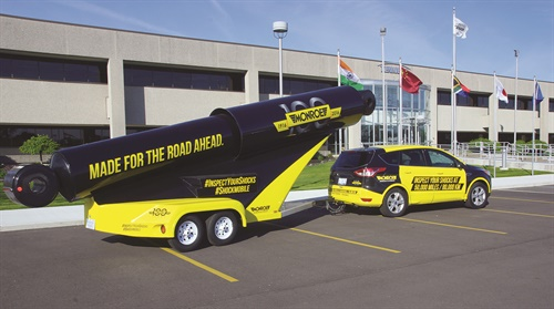The custom-built, LED-illuminated Shockmobiles are towed by specifically equipped sport-utility vehicles that feature matching yellow-and-black graphics communicating the inspection message.
