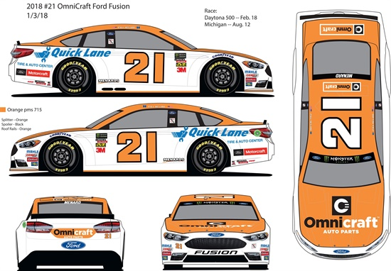Omnicraft is sponsoring the No. 21 race car with Paul Menard at the wheel in the Daytona 500 this Sunday.