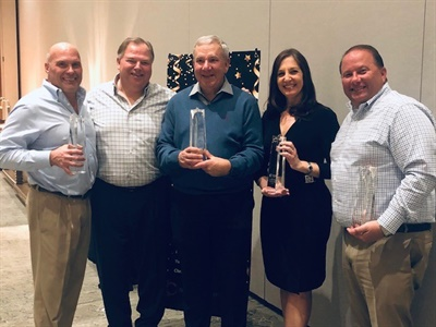 Five BPI team members were presented with the company's Leadership Award during the BPI global leadership summit.