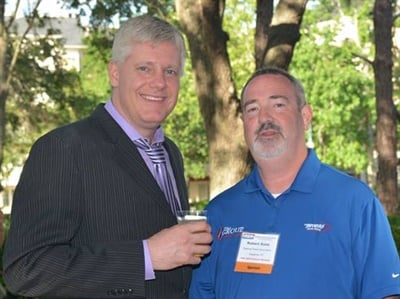 Dan Risley (on left) and Robert Roos, National Pronto Association, took part in ASA's social activities at ASA's annual business meeting in Orlando.