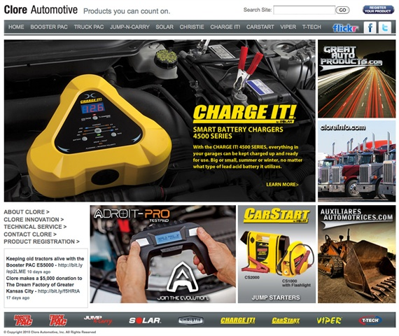 Clore Automotive has updated its Web site to enhance visitors' experience.
