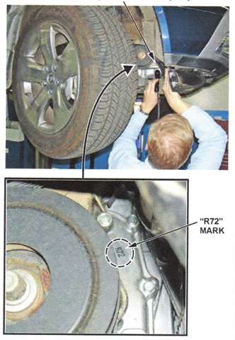 Inspect the oil pump first, looking for the R72 mark.