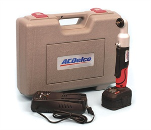 The new ACDelco ARI2044 cordless impact wrench kit includes a heavy-duty case, two lithium ion batteries and a very clever, intelligent battery recharger.