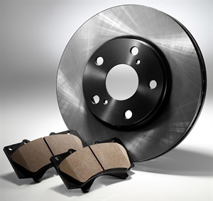 The use of FNC rotors requires pad formulations that accommodate this harder rotor material. (Courtesy of ADVICS)