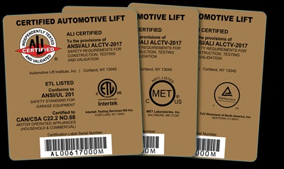 Earning one of these Automotive Lift Institute (ALI) gold certification labels is a little more challenging under the new edition of ANSI/ALI ALCTV now in effect.
