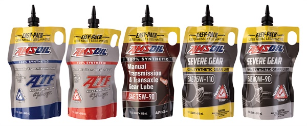 Amsoil has made five more lubrication products available in its easy-pack packaging.