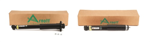 Arnott's SK-3122 (on the left) and SK-3311 universal rear shocks fit the left or right side of the vehicle and include a custom-tuned damper.