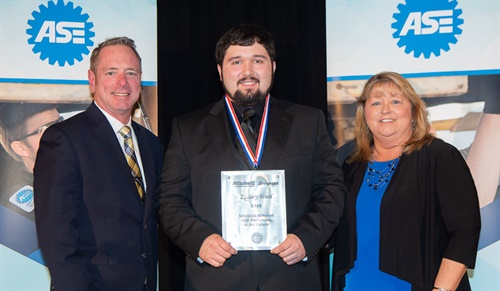 Zachery Ward of Massena, N.Y., was recently named the 2019 Mitchell 1 / Snap-on Automotive Service Excellence (ASE) Technician of the Future.