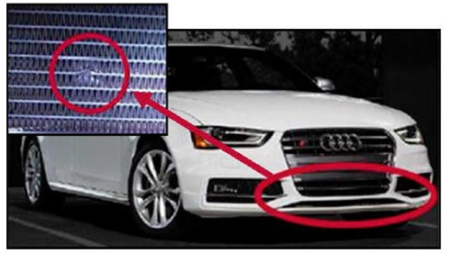 Intercooler is susceptible to stone damage.