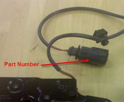 Figure 1. Part number location on the connector.