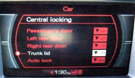 Trunk lid option in 2G MMI.