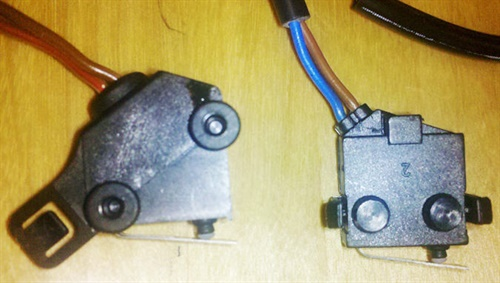 Figure 2. Design differences between the two contact switches.
