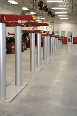 The versatility of in-ground lifts makes them the preferred choice of many large shops. Plus, clean-up is easy at the end of the day.