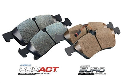 Akebono says eight new ProAct and Euro ultra-premium disc brake pad part numbers increase coverage by almost 4 million vehicles.