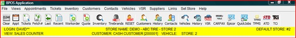 New toolbar navigation forPOS software from A&A can be customized and accessed from any workstation.