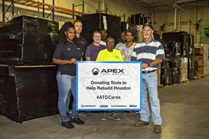 Apex Tool Group employees have packaged and shipped tools to help communities rebuild after Hurricanes Harvey and Irma.