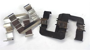 Abutment pad shims should always be part of a complete brake job. The shims wear out and must be replaced and properly lubricated to reduce noise and vibrations.