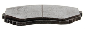 Tapered pad wear indicates caliper misalignment and is not to be blamed on the pads. Closely inspect the caliper mounting to check for a bent bracket, debris or faulty hardware that causes the pad to be cocked and not parallel to the disc surface.