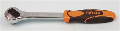 The slim profile, heavy-duty 1/2-inch-drive ratchet measures 10-inches from center of the head to the end of the grip.