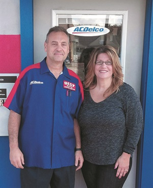 Tom and Lisa Sforia, owners of Best Auto Service & Tire Center in Pennsylvania.