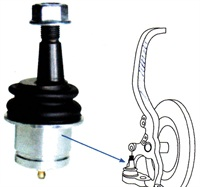 Certain Chrysler vehicle models feature no camber/caster adjustment. An offset joint allows front camber and caster adjustment from -1 to +1 degrees. The adjustment is done by rotating the ball stud.