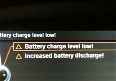 """The message """"Increased battery discharge"""" may be accompanied by """"Battery charge level low."""""""