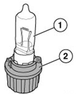 Check bulb condition and replace as needed. Regardless of condition, if the vehicle was built before July 3, 2007, replace both sockets with the updated P/N.