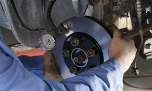 Whenever checking rotors for lateral runout, always install all wheel fasteners and torque to specification. Installing only a few fasteners can easily result in a mis-reading that can indicate a runout issue where none exists. You must duplicate the installed wheel condition.