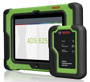 Bosch's ADS 625 has the Repair-Source database. (Courtesy of Bosch)