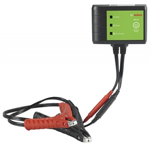 "Bosch BAT 120 wireless battery and starter/charger system tester provides diagnostic ""health reports."" (Courtesy of Bosch)"