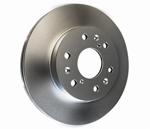 The industry is seeing an increase in the use of rotor coatings to prevent rust. Some OEM rotors now feature aluminum hats to reduce weight and to increase thermal release. (Courtesy of Brake Parts Inc)